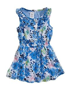 GUESS Kids Girls Baby Girl Floral-Print Chiffon Dress (12-24m), PRINT (24M)  - Click image twice for more info - See a larger selection girls printed fashion- girls, little girls, kids, kids fashion, girls fashion, girls dress, casual dress, everyday dresses, gift ideas