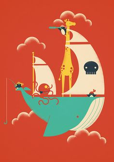 Jay Fleck; jayfleck.com  I want to buy all these illustrations