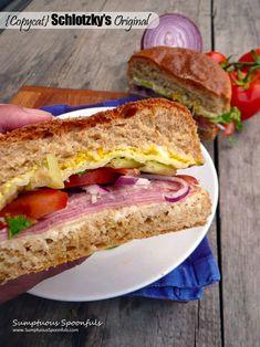 {Copycat} Schlotzky's Original Sandwich ~ Sumptuous Spoonfuls #amazing #ham #salami #sandwich #recipe