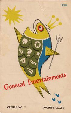 P's 'Chusan' Tourist Class,General Entertainments,1958. by Daphne Padden