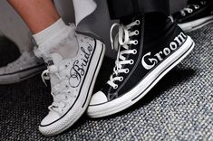 MADE TO ORDER - Wedding Converse. $75.00, via Etsy.