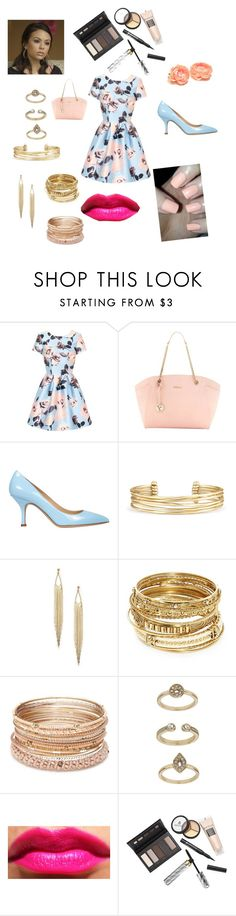 Mona from pretty little liars by dancer565678 on Polyvore featuring мода, Chi Chi, Semilla, Furla, ABS by Allen Schwartz, Red Camel, Stella & Dot, Topshop and Borghese
