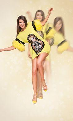 Matryoshka yellow dress