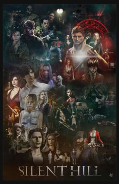 Silent Hill: Saga Poster by afullonetouch.dev - Video Games - Ideas of Video Games - Silent Hill: Saga Poster by afullonetouch. Silent Hill Video Game, Silent Hill Art, Silent Hill Series, Resident Evil Remake, Silent Hill Downpour, Horror Video Games, Survival, Bioshock, Game Art