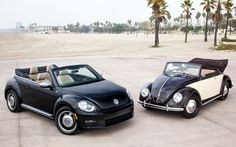 VW Beetle 2013 and the old style. I love this car no matter what the top gear guys say.
