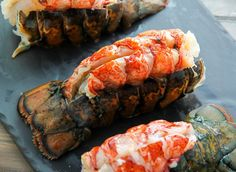 lobster tail Learn How to Cook Lobster Tails in the Oven (It's Easy!) Learn How to Cook Lobster Tails in the Oven (It's Easy! Lobster Tail Oven, Baked Lobster Tails, Steamed Lobster, Grilled Lobster, Shellfish Recipes, Seafood Recipes, Cooking Recipes, Fish Dishes, Seafood Dishes