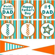 Father's Day Cupcake Toppers {Printable Fathers Day}