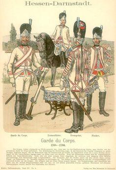 Knötel-Tafel 15/02   Hessen-Darmstadt. Garde du Corps. 1768-1790.