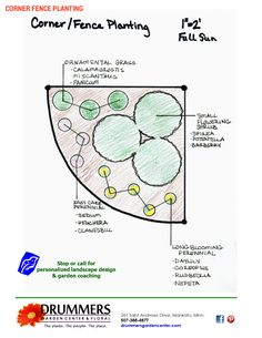 Corner.Fence planting plan from Drummers Garden Center & Floral