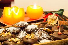 zdravé vánoční cukroví Christmas Sweets, Christmas Cookies, Caramel Apples, Diy Food, Doughnut, Smoothies, Low Carb, Pudding, Healthy Recipes