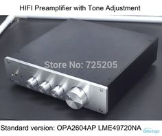 79.00$  Buy here - http://alivwo.worldwells.pw/go.php?t=32305112293 - HIFI Preamplifier with Tone Adjustment Bass Tremble Middle OPA2604 LME49720 Whole Aluminum Casing Class A Power Stereo Audio