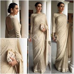 Chikankari Sarees wore by bollywood celebrities at different award functions  . These are high end pure georgette chikankari sarees. you can similar lucknowi work from dress365days