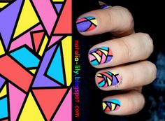 Geometry Nails My Papa will love these!