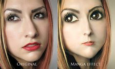 Manga effect - Photoshop tutorial - SO WEIRD