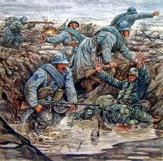 1917 Les poilus - Giusepe Rava