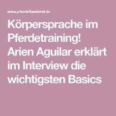 Körpersprache im Pferdetraining! Arien Aguilar erklärt im Interview die wichtigsten Basics