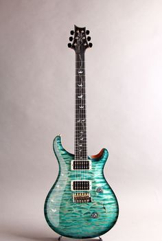 PRS[Paul Reed Smith ポールリードスミス] Golden Eagle Limited Private Stock #5776 Custom24 Bahamian Blue Smoked Burst 詳細写真