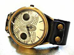 Armbanduhren - NACHTMAGIE Unisex Armbanduhr Damenuhr Vintage Eule - ein Designerstück von Mont_Klamott bei DaWanda