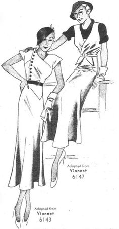 Pictorial 6143 and 6147 adapted from Vionnet