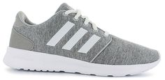 adidas NEO QT Racer | Gray/White | Womens | SHOE SHOW | Stock Number - 116673 Nike Converse, Adidas Sneakers, Men's Shoes, Dress Shoes, Purple Nikes, Adidas Neo, Shoe Show, Comfy Shoes, Footwear