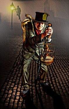 The Crooked Man (The Hanged Man) -- The Sherlock Holmes Tarot by John Matthews and Wil Kinghan (2014)
