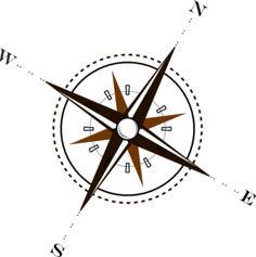 Compass Brown clip art