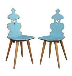 Pair of Oak Side Chairs by Cepelia c1957