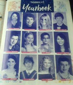Celebrity yearbook Ariana Grande, Austin Mahone, Meghan Trainor, Cameron Dalas, Shawn Mendes, Jenifer Lawrense, Joe Jonas, Victoria Justice, Kendall Jenner, Justin Bieber, Taylor Swift and Nash Griner