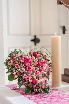 Blumenherz als Altarschmuck