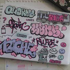 Graffiti Writing, Graffiti Tagging, Graffiti Artwork, Graffiti Lettering, Graffiti Wall, Street Art Graffiti, Cool Art Drawings, Art Sketches, Art Journal Inspiration