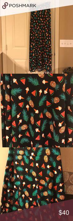 LulaRoe XS Maxi Skirt LulaRoe XS Maxi Skirt worn once. LuLaRoe Skirts Maxi