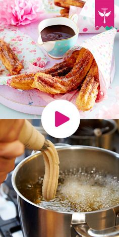 Churros – the recipe for making your own Delicious churros are easy to make yourself How it works, you can see here! it Yourself The post Churros – the recipe for making your own appeared first on Woman Casual - Food and drink Easy Cake Recipes, Sweet Recipes, Baking Recipes, Cookie Recipes, Dessert Recipes, Best Pancake Recipe, Delicious Desserts, Yummy Food, Mexican Food Recipes