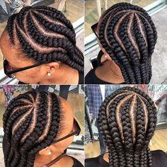 Trending Ghana Weaving 2019 for your beautiful look. Start your week with these beautiful ghana braids hairstyles. We keep getting updates on ghana weaving Ghana Braids Hairstyles, Cool Braid Hairstyles, Twist Hairstyles, African Hairstyles, Black Girls Hairstyles, Braids Cornrows, Small Cornrows, Plaits, Box Braids