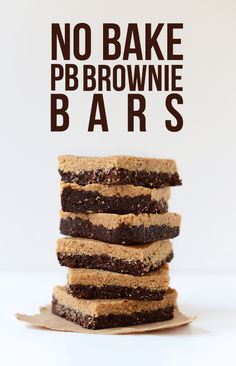 2-Layer No Bake Peanut Butter Brownie Bars.