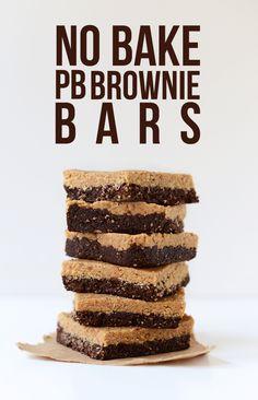 No Bake Peanut Butter Brownies | Minimalist Baker