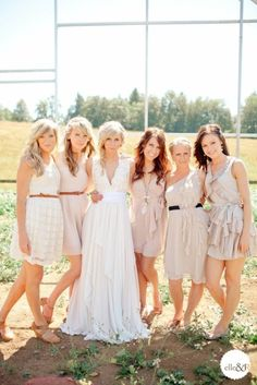 perfect! love these bridesmaid dresses and the colors are right on too