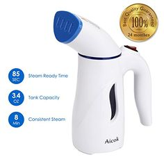 Aicok Portable Garment Steamer is made making eliminating creases a cinch. Quick produce vapor in 75-90 secs