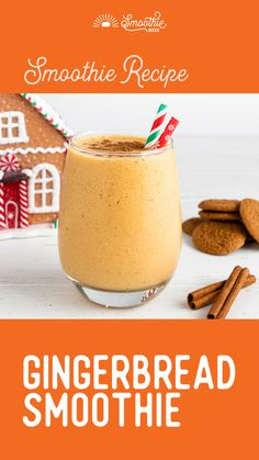If you like ginger, you're going to love this gingerbread smoothie recipe! Clementine Smoothie Recipes, Cashew Milk, Yummy Treats, Gingerbread, Spices, Frozen, Tasty, Drink, Breakfast