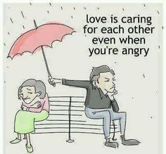 Love is caring for each other even when you're angry. #Keeper #funny #love #couples