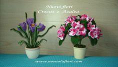 Crocus e azalea all'uncinetto www.nonsolofiori.com