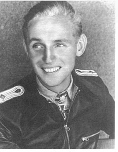 Erich Hartmann was a German fighter pilot. He scored 352 kills, the most successful fighter ace in the history of aerial combat. Military Men, Military History, Luftwaffe, World History, World War Ii, Erich Hartmann, Military Decorations, Germany Ww2, The Third Reich