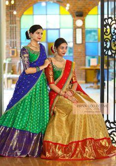 Lehenga Saree Design, Half Saree Lehenga, Lehnga Dress, Lehenga Designs, Gown Dress, Half Saree Designs, Saree Blouse Neck Designs, Fancy Blouse Designs, Party Wear Indian Dresses