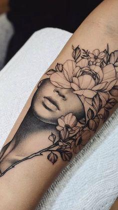 Künstler: Cameron Pohl – – Tattoo ideen – Tattoos And Body Art floral tattoo designs Sexy Tattoos, Cute Tattoos, Beautiful Tattoos, Body Art Tattoos, Girl Tattoos, Sleeve Tattoos, Tatoos, Woman Tattoos, Woman Face Tattoo