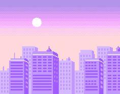 city #pixelart #vaporwave