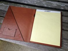 Large Leather Folder For 8.5 x 11 Notepad by AALeather on Etsy