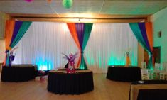 Backdrop colorful Draping Draping, Event Design, Backdrops, Colorful, Home Decor, Style, Swag, Decoration Home, Room Decor
