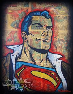Superman Man of Steel II, Superhero Artwork, Signed and Numbered Fan Art Print by David Lizanetz