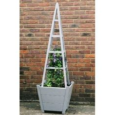 Obelisk With Tapered Planter Comes Ready Embled And Available In Diffe Colour Shades A Wooden Plantersgarden