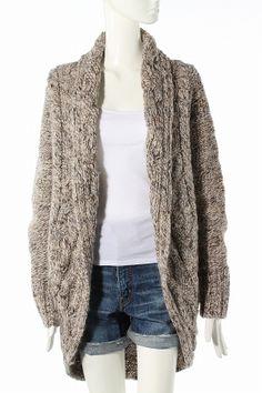 Big Grey Sweater & Denim Shorts