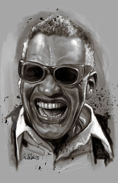Beautiful Portraits from Marco Calcinaro Ray Charles! Portrait Illustrations by Marco Calcinaro African American Art, African Art, American History, Celebrity Drawings, Celebrity Caricatures, Celebrity Portraits, Dope Cartoon Art, Black Art Pictures, Black Artwork